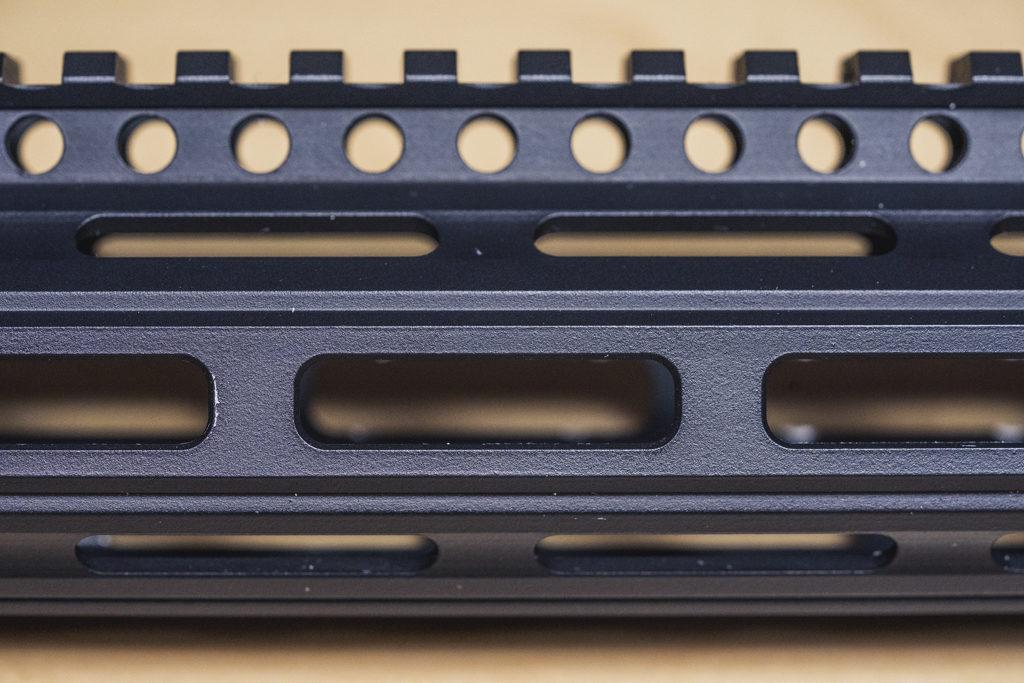 MLOK slots on a handguard