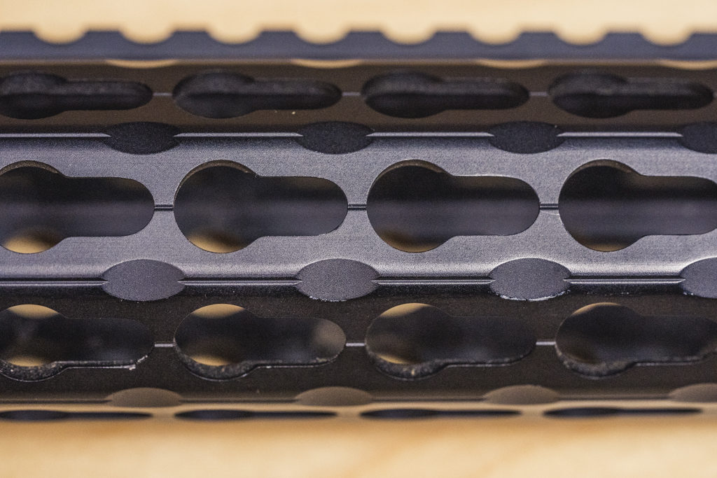 KeyMod slots on a handguard