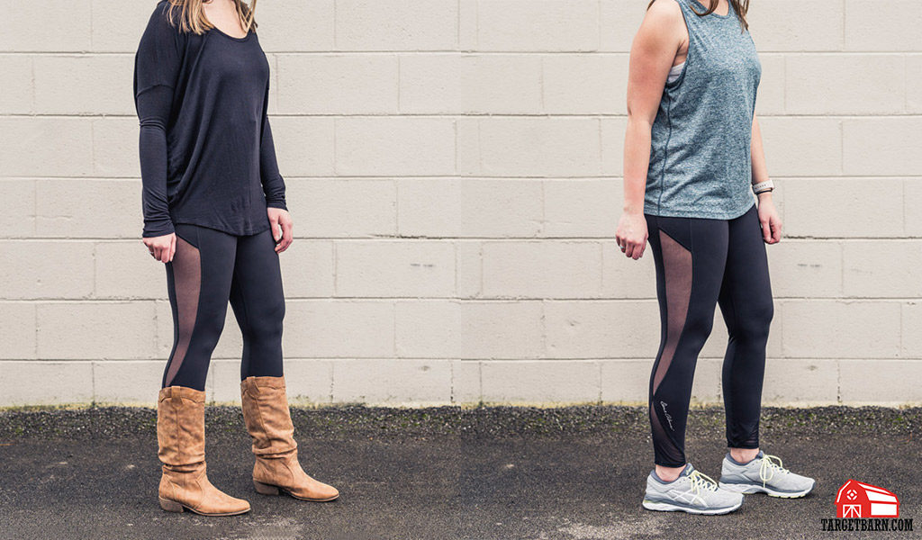 Dene Adams Classic Concealed Carry Tactical Leggings styled in everyday and athletic clothing