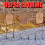 three USPSA targets at a match