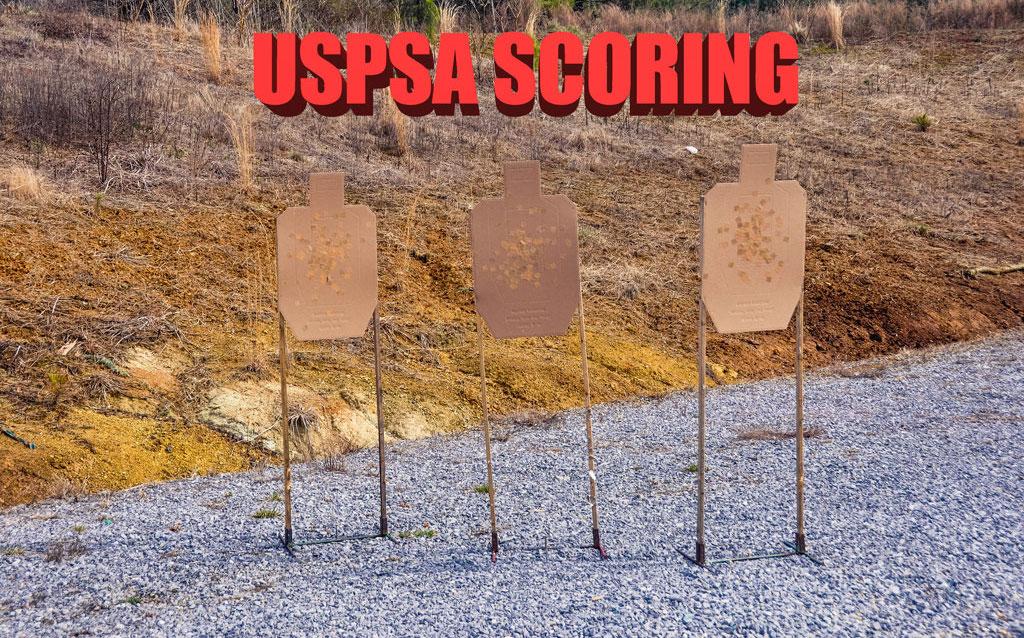 three USPSA targets at a match