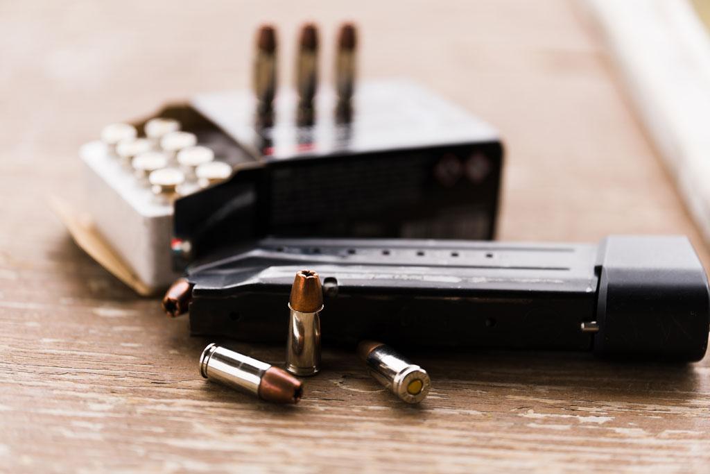 JHP ammo loaded into a gun magazine