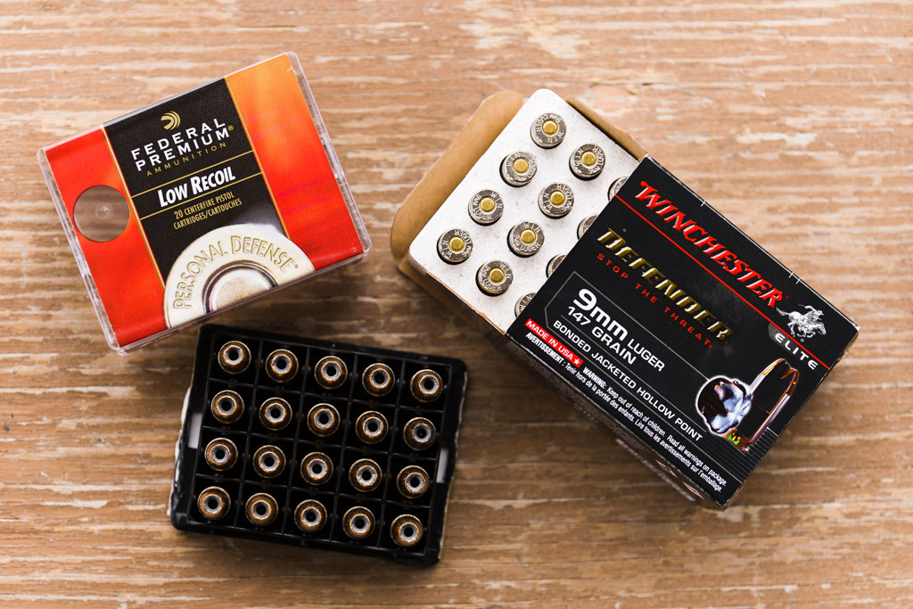 9mm Federal Premium JHP and 9mm Winchester Defender jacketed hollow point ammo