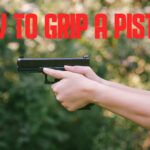 graphic of how to grip a pistol