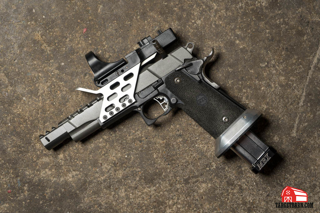 a USPSA Open gun is made to go fast and is highly customized